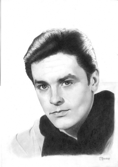 Alain Delon by Bubustars